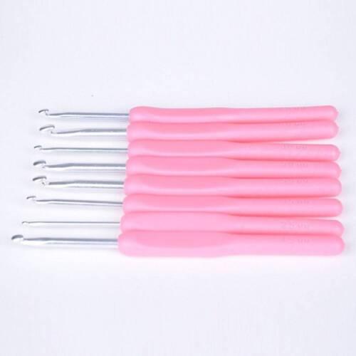 Ganchos de ganchillo agujas de tejer Set Con mangos ergonómicos 2.5-6.0mm A5S1 8 un