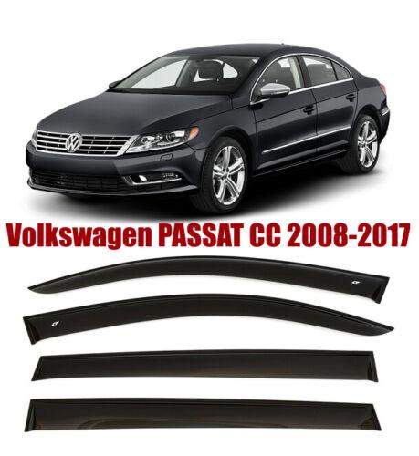 For 2008-2017 VW Passat CC Window Smoke Visor Rain Sun Guard Deflectors