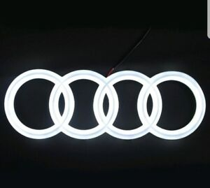 LED-EMBLEM-AUDI-A3-A4-A5-A6-WHITE-LIGHT-FRONT-GRILL-GLOW-LOGO-BADGE-RINGS