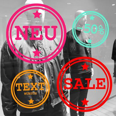 ✔✔aufkleber Folie Neu Sale Wsv Buttons Schaufenster Beschriftung Nach Wunsch✔✔