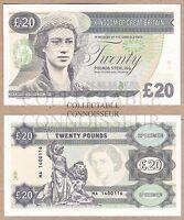 Great Britain 20 Pound 2014 UNC SPECIMEN Test Note Banknote - Princess Margaret