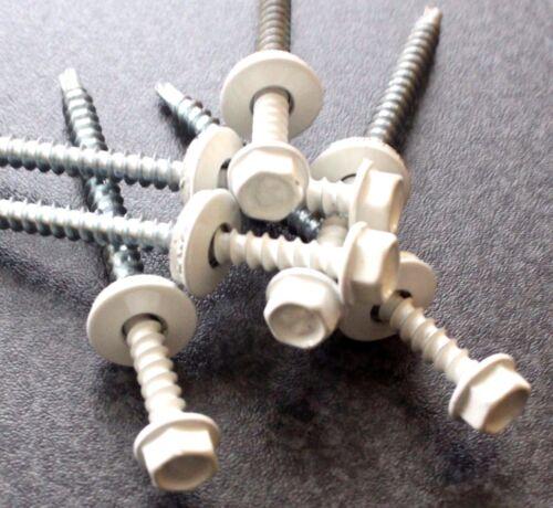 Trapezblech Schrauben Bohrschrauben 4,8 x 70 mm 100 Stück RAL 9003