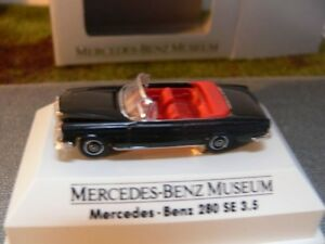 1/87 Brekina MB 280 SE Cabrio schwarz Sondermodell Museum