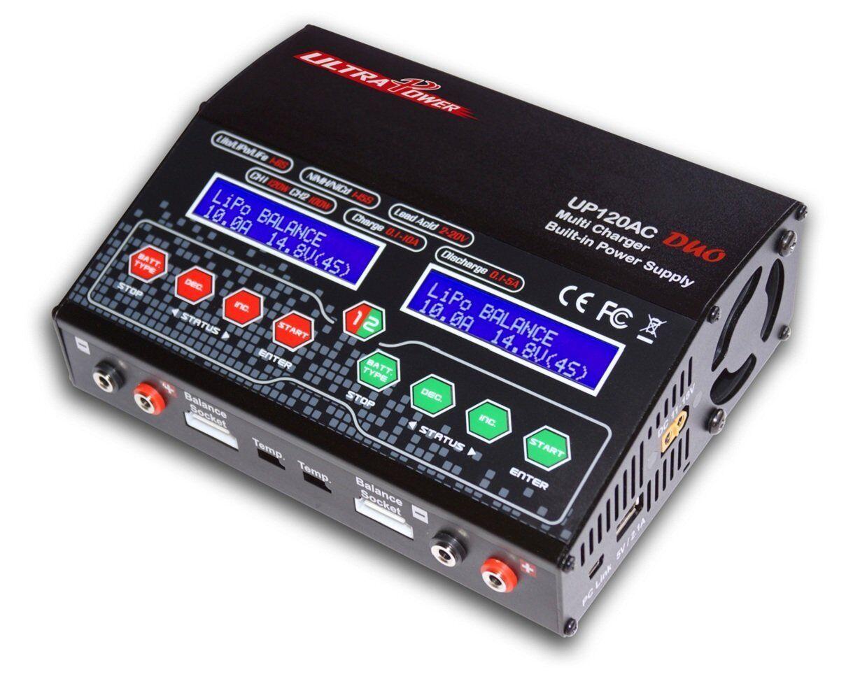 Ultra UP120AC DUO 2 Puerto 12A Power Batería cargador de equilibrio lipo lihv Nimh Ac Dc