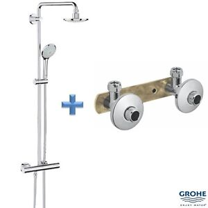 GROHE 27296 001 Euphoria System 180 Bar Shower incl. Fixing Bracket ...