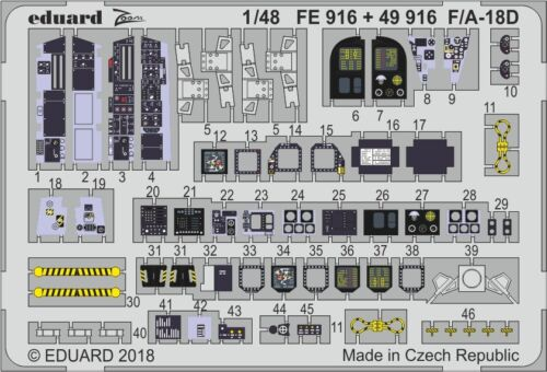 EDUARD ZOOM FE916 Detail Set for Kinetic Kit F//A-18D in 1:48
