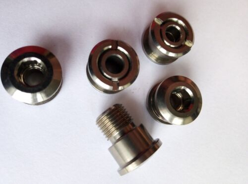 Titanium TC4 Chainring Bolt Chainwheel Ti Screws set for Brompton bike Crankset