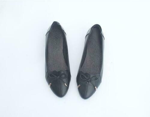 Details about  /Women Round Toe Bowknot Mary Jane Ballet Shoes Flats Casual Gommino Loafer 111