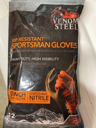 "12 Venom Steel sportsman Nitrile 12/"" cuff field Dressing//cleaning//fishing Gloves"