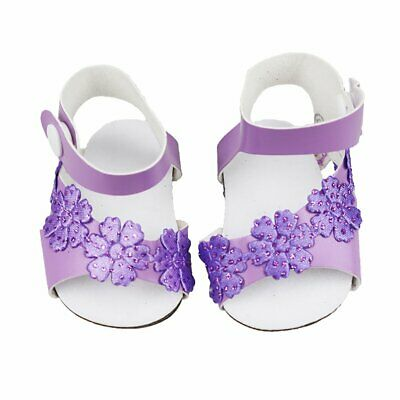 Cute Purple Granular Shoes For 18 Inch American Girl Doll Doll Accessories fc