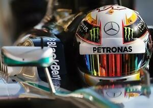 lewis hamilton mercedes f1 voiture casque art imprim photo affiche a3 a4 ebay. Black Bedroom Furniture Sets. Home Design Ideas