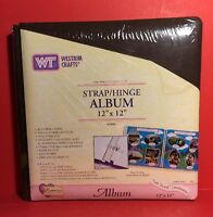 Westrim Crafts Strap-hinge Scrapbook Album 12 X 12 Brown 12 Sheets/24 Pages