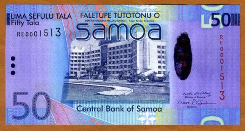 2008 Low S//Ns UNC Western Samoa 50 Tala Hybrid Polymer P-41 First Signature