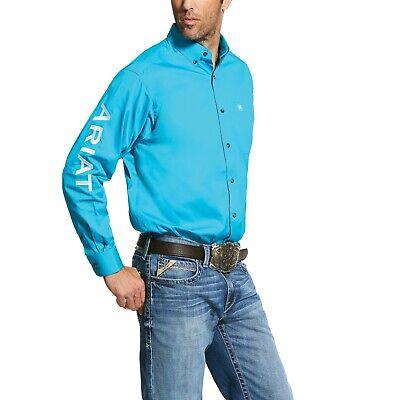 Ariat Men/'s Team Logo Long Sleeve Twill Shirt