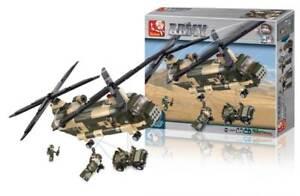 Sluban M38b0508 Hélicoptère De Transport Chinook 520 Pièces Compatibles Légo