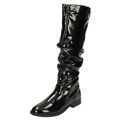 Responsible Femmes Spot On F4r418 Talon Bas Ruché Cuissarde Bottes Femmes: Chaussures