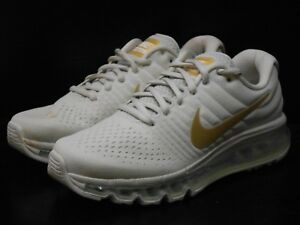 Details about Nike Air Max 2017 (GS) Boys Girls Running Trainer shoe Size 5.5 Light Bone Gold