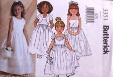 Child/Girls Dress & Jacket Butterick Pattern 3351 NEW Wedding Fancy Size 6-7-8