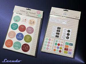 Aufkleber-Set-Handmade-46-teilig-Fuer-Dich-Sticker-fuer-Geschenke