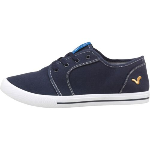 Mens Boys Lace New Voi Jeans Canvas Trainers Pumps Casual Formal Black UK 6-9