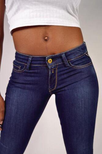 Mitica REPLAY JEANS wx689 Luz BLU SCURO 41a 601 Skinny Fit Jeans 25//26//30//31