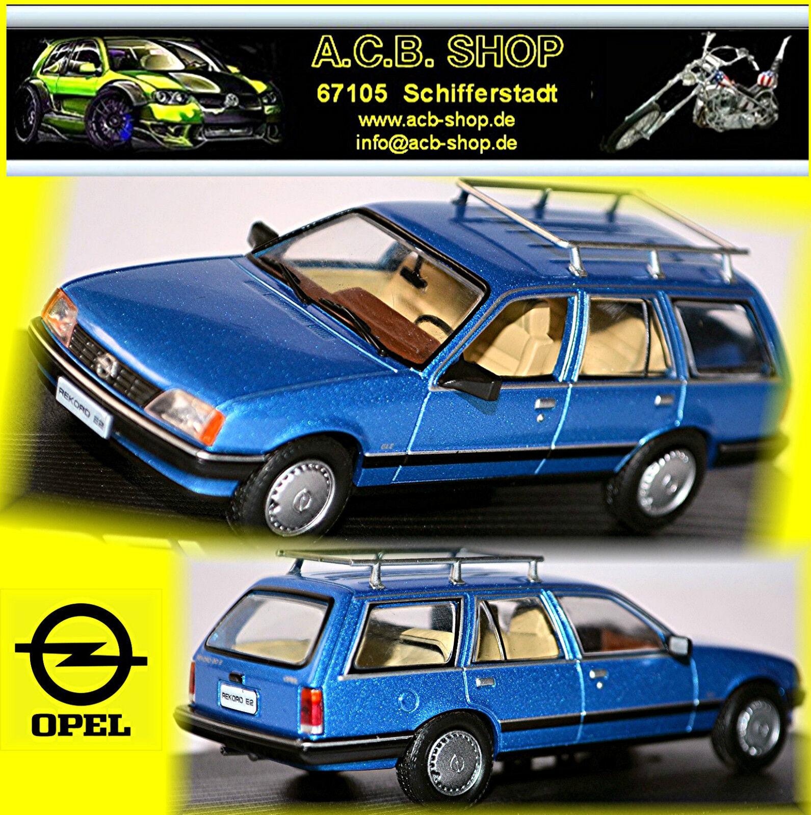 Opel Record E2 Caravan 1982-86 blue blue Metallizzato 1 43 Ixo