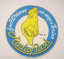 ADESIVO RADIO Vecchio / Sticker / Autocollant_ RADIO FLASH Torino 97,7 (cm 11)