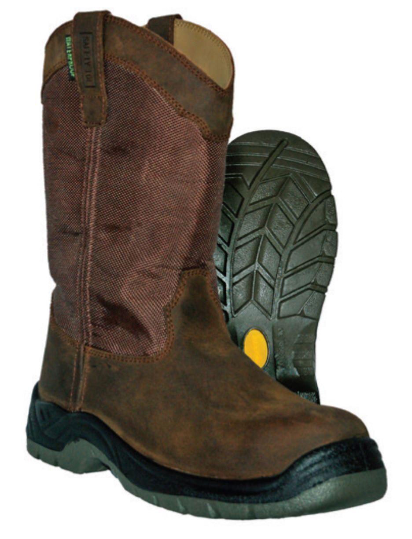 Para Hombre botas De Trabajo Puntera Itasca Python seguro Marrón  NGXE2-M396