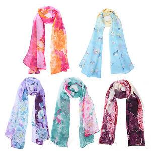Fashion Long Soft Wrap Butterfly Scarf Ladies Shawl Chiffon Scarf Pink