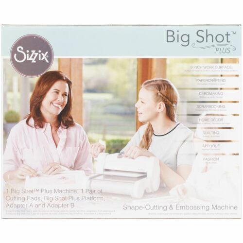 660340 Máquina Sizzix Big Shot Plus-Blanco Con Gris