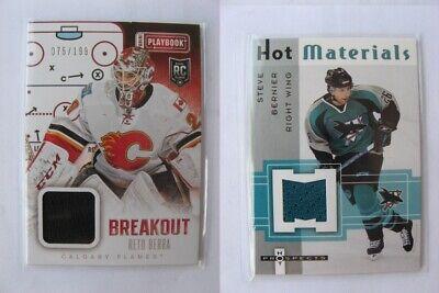 2013-14 Panini Playbook Breakout Jersey #B-RBE Reto Berra //199 Calgary Flames