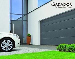 Garador hormann double 14x7 modern l ribbed sectional for 14x7 garage door