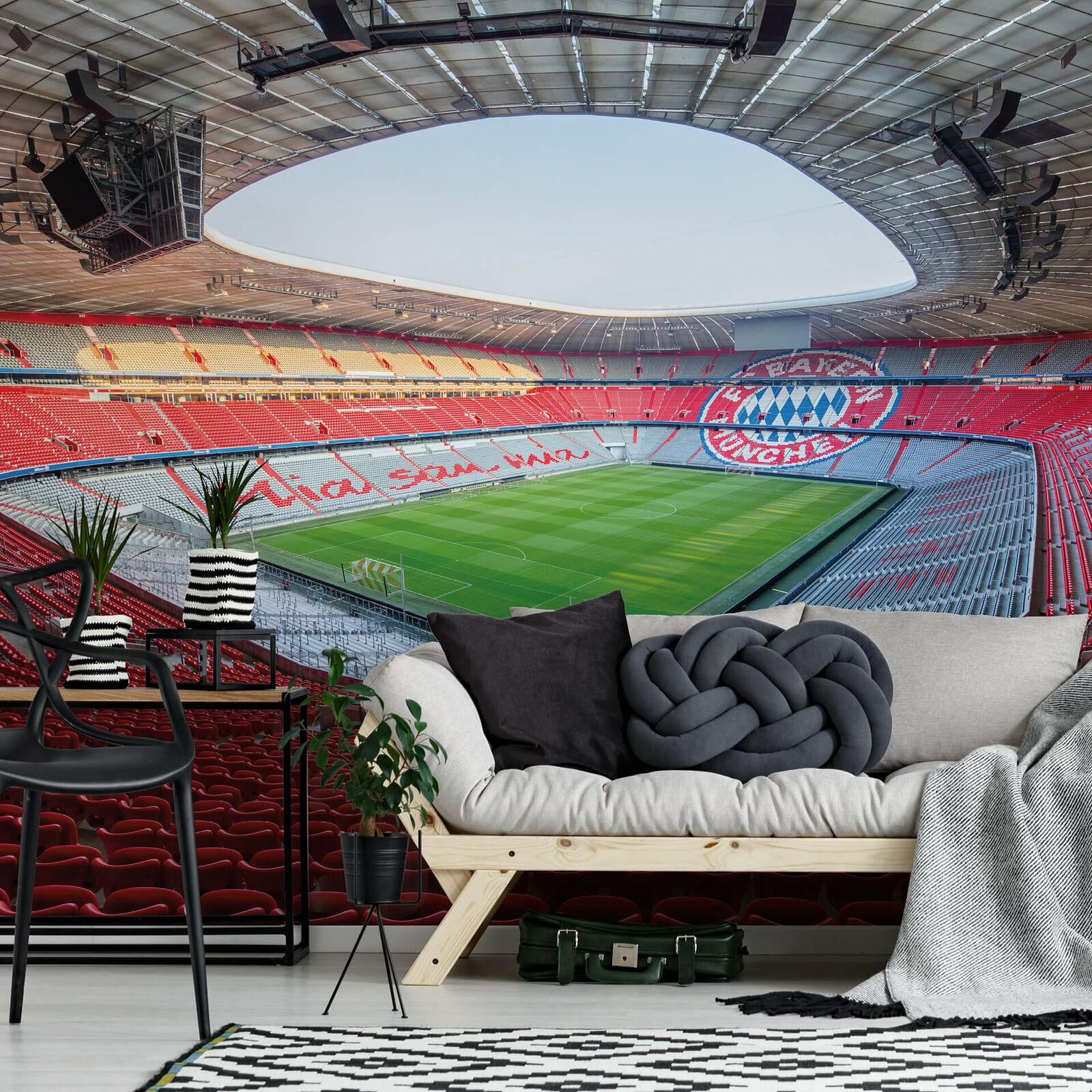 Fototapete FCB Stadion Mia san mia WANDDEKO FC BAYERN original lizensiertes Bild  | Online-verkauf