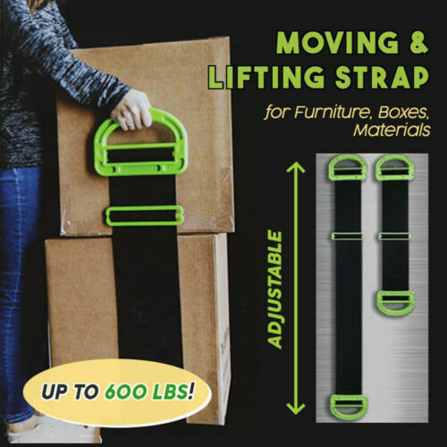 THE Landle Adjustable Moving/&Lifting Straps Furniture Boxes Bulky Item Handle US