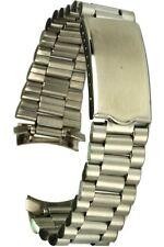 Edelstahl-Uhrarmband 19 mm mit Rundanstoss und Faltschliesse Uhrband Ersatzband