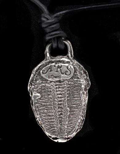 Trilobite Sterling Silver Fossil Pendant Cast Jewlery Necklace HANDMADE UNIQUE
