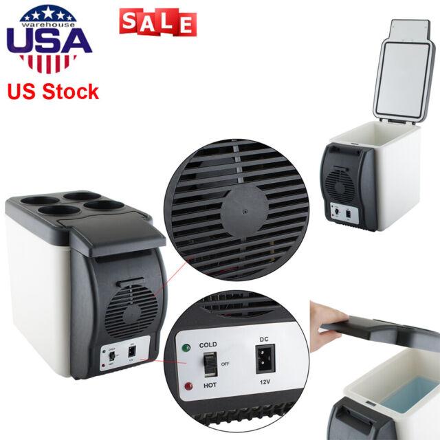 12V 6L Car Refrigerator Portable Fridge Cooler Warmer Electric Travel Freezer
