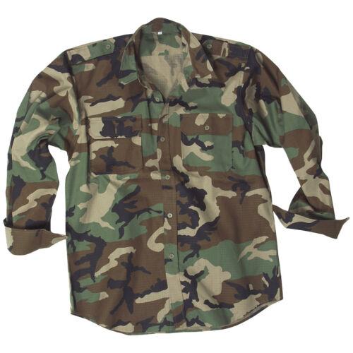 Mil-Tec Hombres Manica Lunga Uniforme Militare Esercito Caccia Camicia Di Cotone