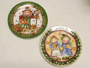 2 Very Cute Pumpkin Plates Hobby Lobby Ebay