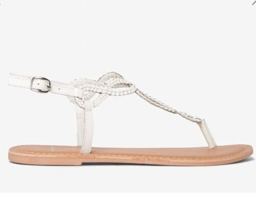 BNWT Size 4 Leather White /'Farah/' Sandals Dorothy Perkins