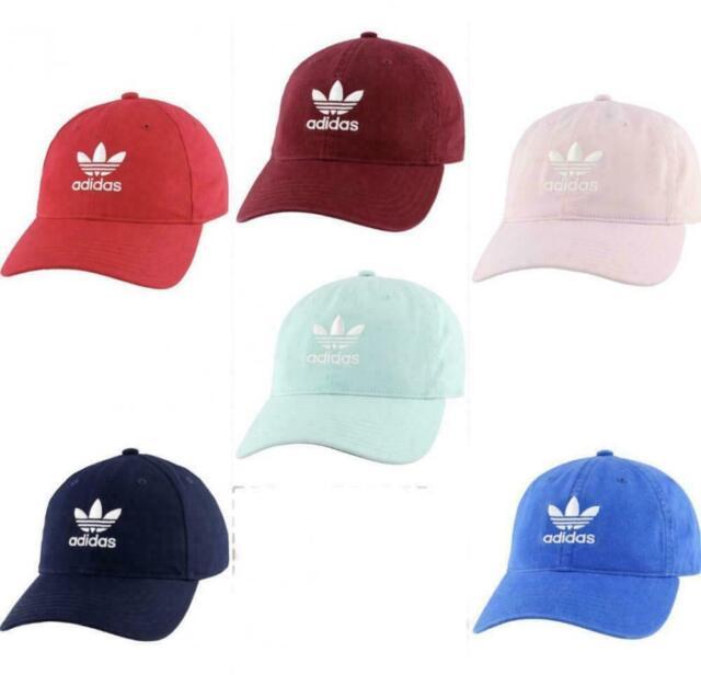 Cap NEW Strapback Overdye Black Adidas Men/'s Originals Trefoil Relaxed Hat