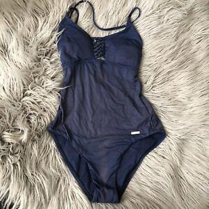 ae989f577d Sunseeker Womens One Piece Swim Suit Bathing Suit Size 6 Blue | eBay