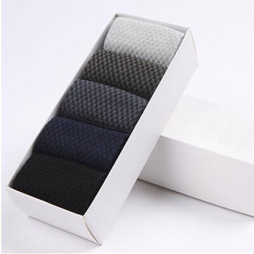 New 5 pairs//lot High Quality Bamboo Fibre Odorless Socks Commercial Men Sock