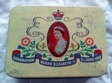 Vintage Queen Elizabeth Coronation 2nd June 1953 Tin by Cadbury Bros Ltd