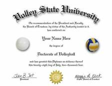 GREAT GIFT! DOCTORATE OF HOCKEY NOVELTY DIPLOMA