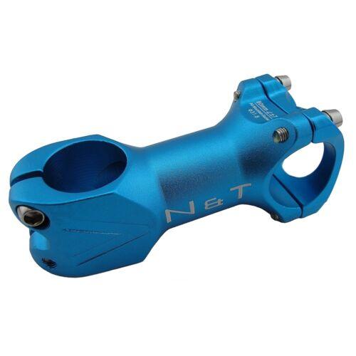 "N/&T Bicycle 80mm Stem 28.6mm or 1-1//8/"" to 31.8mm Cycling Road Handlebar MTB BLUE"