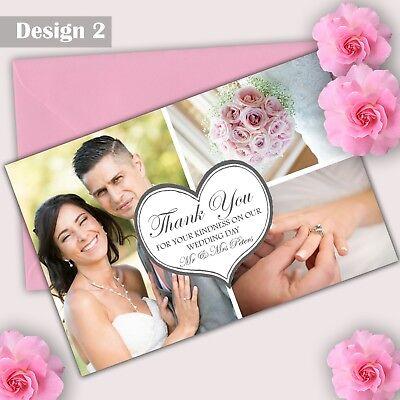 Luminosa Piatto O Piegata Foto Personalizzati Foto Matrimonio Ringraziamenti Prova Gratuita-