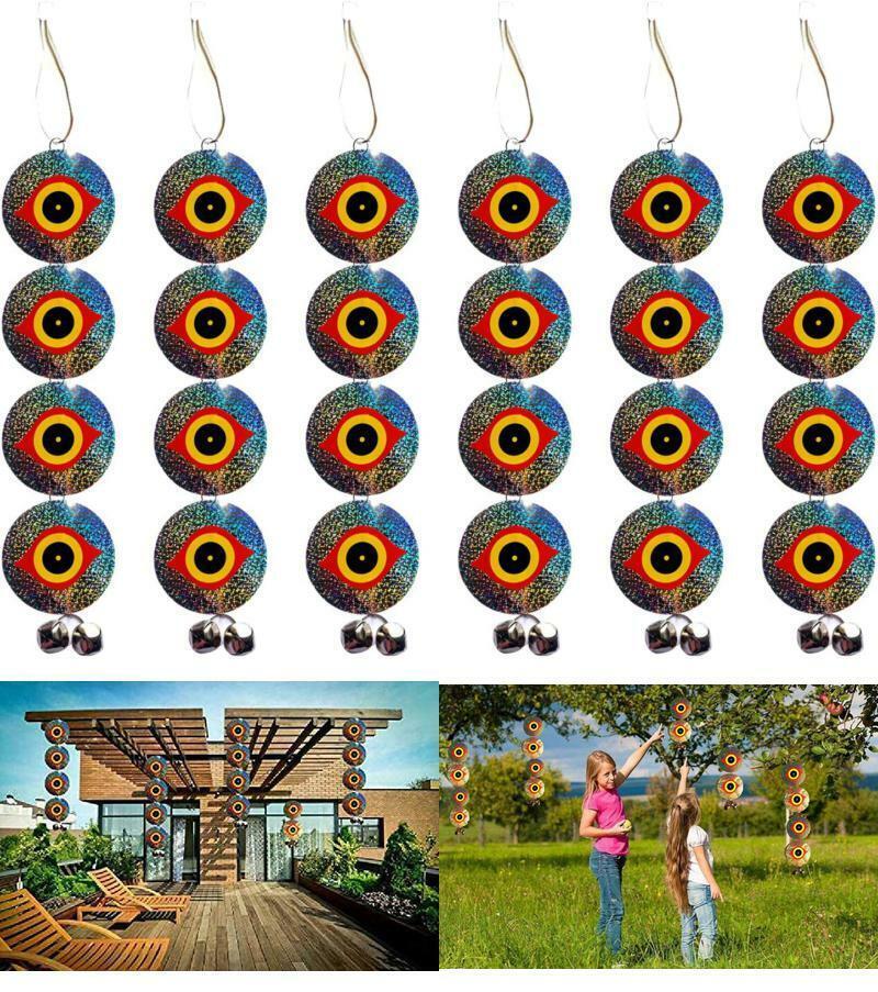 Bird Repellent Discs - Scare Birds Away 48pcs Bird Scarer Eyes Double Sided Keep