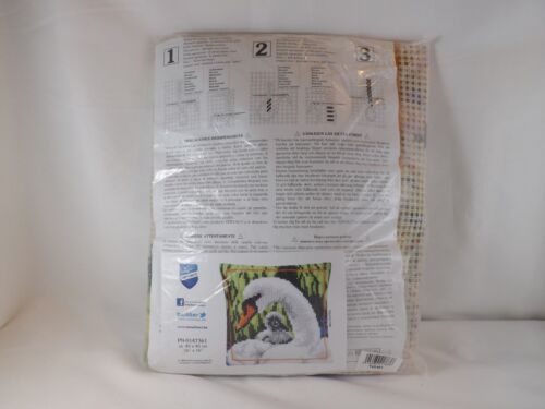 Vervaco Stamped Cross Stitch Pillow Kit Swan New