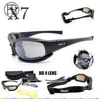 Daisy X7 Goggles 4ls Men Military Polarized Sunglasses Bullet-proof Airsoft